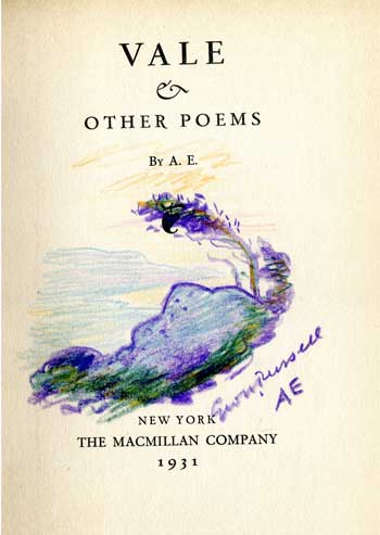 A.E. [George Russell] Vale & Other Poems.