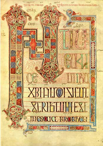 [BOOK OF LINDISFARNE] Evangeliorum Quattuor. Codex Lindisfarnensis.