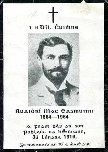 Roger Casement: Memoriam Card.
