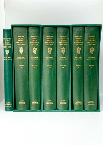 JOHNSTON-LIIK, Edith Mary. History of the Irish Parliament 1692-1800. Six volumes.
