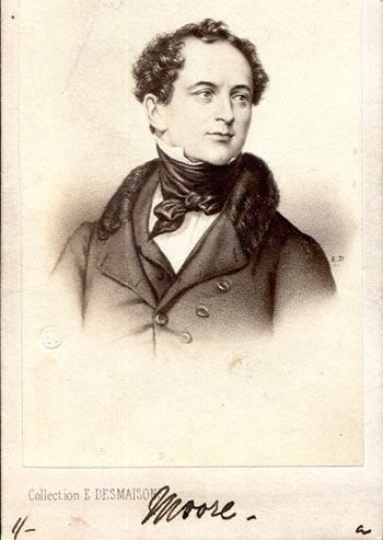 Carte de visite portrait of Thomas Moore, The Bard of Ireland. Photograph by E. Desmaisons, Paris.